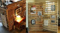 séparer une chambre en deux avec un paravent en bois