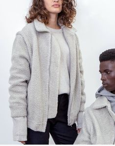 Recycled Wool and up-cycled plastic bottles were used to create our 2 in 1 Modular Teddy Coat. The limited-edition run is made in England and features zip off sleeves. Teddy Coat, Save The Planet, Slow Fashion, Plastic Bottles, Sustainable Fashion, Upcycle, England, Unisex, Pullover