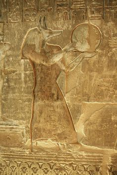 relief from the temple of Hathor at Deir el Medina , Luxor : from the room dedicated to  Amon Sokar Osiris