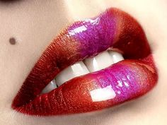 25 Beautiful Lips Collection - Lips are the most beautiful organ of humans especially for girls. Like eyes lips also expresses many feelings. Pink Lips, Red Lips, Glossy Lips, Ombre Lips, Gradient Lips, Purple Lipstick, Lipstick Colors, Photo Bouche, Lip Pictures