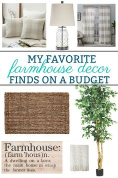 Favorite Farmhouse Decor Finds On a Budget - Shopping a budget can be challenging and time consuming, trust me I know. To make things easier, I've put together a list of some of my favorite farmhouse decor finds that work for any budget. Farmhouse home decor for every room.  #homedecor #farmhousedecor #Farmhousestyle #farmhouse #rusticdecor #countrystyle