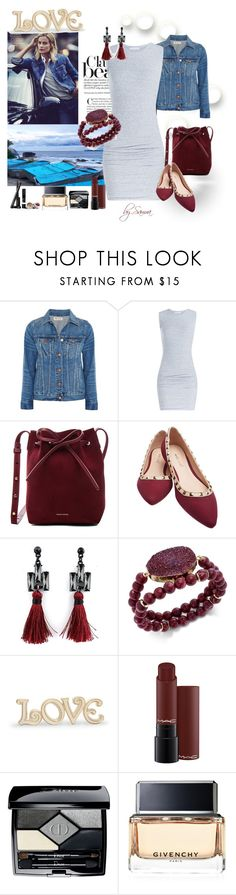 """Denim Jacket"" by samra-dzabija ❤ liked on Polyvore featuring Madewell, James Perse, Mansur Gavriel, Wet Seal, INC International Concepts, Lenox, Christian Dior, Givenchy and Pat McGrath"