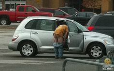 LMAO at least get in the car to change ur pants