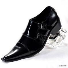 $80 - Italic men black loafer Pointy Toe Shoe