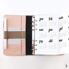 Taschenkalender - Kalender 2016 / Filofax Personal / Printable - ein Designerstück von sppiy bei DaWanda