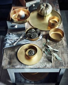 Golden Christmas table - VTwonen
