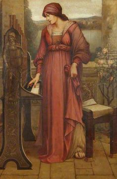 'Music Sweet Music' (Saint Cecilia) by Evelyn De Morgan Date painted: 1880s