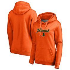 Miami Hurricanes Fanatics Branded Women's Plus Sizes Freehand Pullover Hoodie - Orange