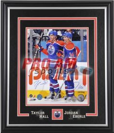 Pro Am Sports - Autographed Pictures - Taylor Hall & Jordan Eberle Dual Signed Edmonton Oilers 11x14 Photo - Edmonton Oilers  To order or for more information or pricing please contact info@roadgearsports.com Taylor Hall, Edmonton Oilers, Jordans, Baseball Cards, Signs, Sports, Pictures, Hs Sports, Photos