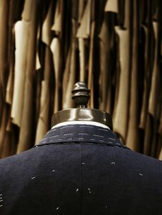 Suit under construction at Gieves & Hawkes. Photo supplied by Gieves & Hawkes.