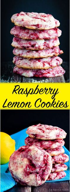 Raspberry Lemon Cookies - These raspberry lemon cookies are ultra soft and chewy…