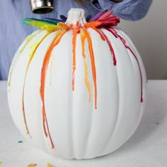 Pumpkin Crafts, Diy Pumpkin, Fall Crafts, Pumpkin Carving, Diy Crafts, No Carve Pumpkin Decorating, Pumpkin Painting, Diy Christmas Decorations Easy, Christmas Diy