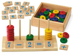 See & Solve Math Kit - Spielzeug Educational Toys For Kids, Learning Toys, Diy Sensory Board, Material Didático, Wood Games, Woodworking For Kids, Woodworking Tools, Wood Toys, Wooden Toys For Kids