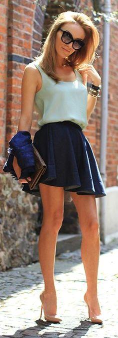 Light Blue Silk Tank #fashion #ropa de mujer . Pin and follow pyra2elcapo