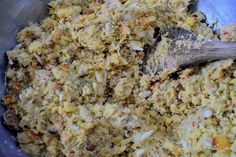 Add a flavorful twist to your Thanksgiving spread with this Seafood Cornbread Dressing recipe! Seafood Cornbread Dressing Recipe, Shrimp Dressing Recipe, Casserole Dishes, Casserole Recipes, Herb Stuffing, Crab Meat, Thanksgiving Recipes, Thanksgiving 2020, Holiday Recipes