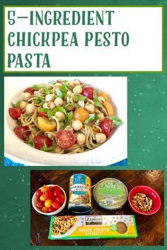 Trader Joes Vegan, My Recipes, Favorite Recipes, Best Pasta Dishes, Vegan Pesto, Canned Chickpeas, Pesto Pasta, Vegan Dinners, Food To Make