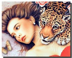 Impact Posters Gallery Framed Wall Decor Lady with Leopard Jungle Love Black Picture Art Print Frame Wall Decor, Framed Wall Art, Wall Art Prints, Poster Prints, Gallery Wall Frames, Frames On Wall, Wall Decor Pictures, Art Pictures, Leopard Wall