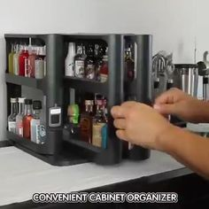 🔥Spice Organizer rack, clean up some counter space, organize your spices well at the same time👻 - Modern Medicine Organization, Small Space Organization, Home Organization Hacks, Kitchen Organization, Spice Rack Organization, Closet Organization, Organizing, Kitchen Pantry Design, Diy Kitchen Storage