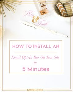 Today, I'm sharing one way you can foster growing your blog or business through having email opt-in bar on your site. An email opt-in bar is a bar on your site, either at the bottom or top that allows visitors to opt-in to subscribe to your email list, offer, or even follow you on a particular social media platform. As you can see on Bliss & Faith, I have my bar at the bottom, which I explain in the video.