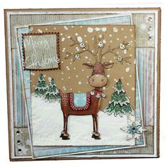 This is the gorgeous new Rufus the Reindeer set from Hobby Art. Clear set contains 15 stamps. Overall size of set - 100mm x 260mm approx. All our clear stamps are made with photopolymer resin. This Stunning card was made by Sally Dodger
