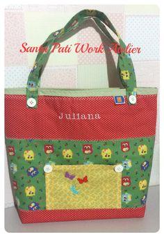 Bolsa Santa Pati Work Atelier em tecido 100% algodão !