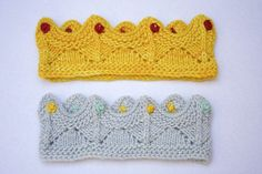 Hand Knit Lace Crown for Baby or Child Dress Up Birthday