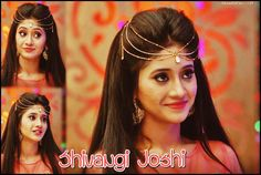 Shivangi Joshi as Naira Hairstyles For Gowns, Indian Bridal Hairstyles, Hairstyles Haircuts, Wedding Hairstyles, Wedding Looks, Bridal Looks, Cap And Gown, Indian Jewellery Design, My Hairstyle