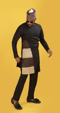 Hello here are some lovely and stylish African attire for the African men. These attires come in different styles and designs just to make your fashion life extra cool. African Male Suits, African Wear Styles For Men, African Shirts For Men, African Dresses Men, African Attire For Men, African Clothing For Men, African Style, Nigerian Men Fashion, Ghana Fashion