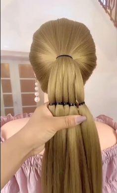 Hairstyles For Medium Length Hair Tutorial, Hair Tutorials For Medium Hair, Bun Hairstyles For Long Hair, Braids For Long Hair, Braid Hairstyles, Hair Style Vedio, Bridal Hair Buns, Front Hair Styles, Long Hair Video