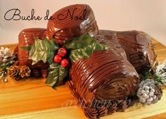 The Buche de Noel also known as the Yule Log filled with Nutella Mousse and Nutella Buttercream. With classic meringue mushrooms to adorn this holiday gem