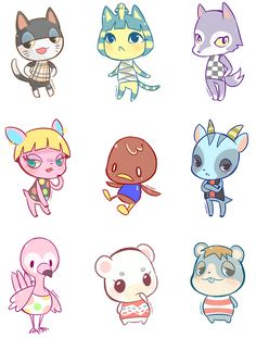 The cutest Animal Crossing New Leaf charecters