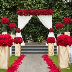 New Wedding Church Aisle Altars Rose Petals Ideas Red Rose Wedding, Burgundy Wedding, Wedding Colors, Gold Wedding, Maroon Wedding, Wedding Ideas With Red, Red And White Wedding Decorations, Rustic Wedding, Gothic Wedding