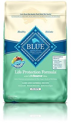 Blue Buffalo Dry Food for Puppies, Lamb & Oatmeal Recipe, 15-Pound Bag - http://www.thepuppy.org/blue-buffalo-dry-food-for-puppies-lamb-oatmeal-recipe-15-pound-bag/