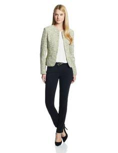 934a71b5c58 Kasper Women s Open Weave Tweed Cardigan Suit Jacket