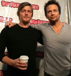 Sean Patrick Flanery and Norman Reedus better known as the Boondock Saints Hot Actors, Actors & Actresses, Sean Patrick Flanery, Murphy Macmanus, Social Distortion, Dynamic Duos, Daryl Dixon, Perfect Man