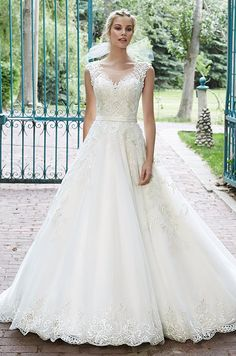 This tulle ballgown is the epitome of bridal bliss. Maggie Sottero, Spring 2015