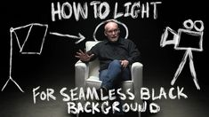 How to Light an Interview with Seamless Black Background - Filmmaking Tutorial -. - adel home Beau Film, Cinematic Lighting, Black Background Photography, Documentary Filmmaking, Film Tips, Interview, Digital Film, Film Studies, Photography Jobs
