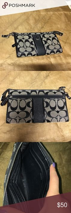 Coach black Wallet •normal used condition Coach Bags Wallets
