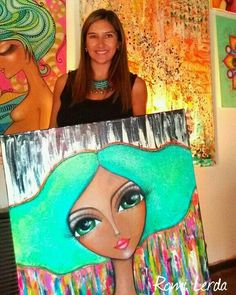 Disney Canvas Art, Frida Art, Cubism Art, Poster Background Design, Cute Art Styles, Naive Art, Angel Art, Marker Art, Pebble Art