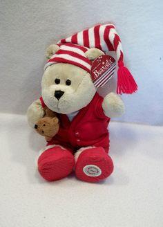 """2007 Starbucks Christmas Bearista in Pajamas 11"""" plush toy doll holiday"""