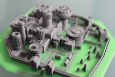 A Tiny 3-D Printed Game Of Thrones Winterfell Castle