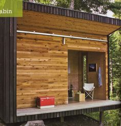 Modern shed   not sure, exactly, what I like about this.  But it's pleasant.