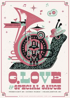 G.Love & Special Sauce Poster - Charleston, SC on Behance