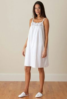 You can never have too many cotton nighties! Get the Jenn ladies nightgown today for you, a friend, or your mom :) Shop now Cotton Nighties, Cotton Dresses, Pretty Lingerie, Vintage Lingerie, Night Suit, Night Gown, Nightgown Pattern, Sleep Dress, Nightgowns For Women
