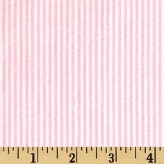 Cotton Seersucker Stripe Pink/White from @fabricdotcom  This lightweight woven cotton seersucker fabric is light and summery. Made with combed cotton, this versatile fabric is perfect for stylish summer suits, dresses, heirloom projects, children's apparel. It can also be used for lightweight curtains, home décor accents and even bedding accessories.