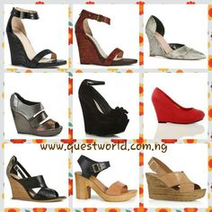 Comfort? wear #wedge #shoes www.questworld.com.ng #pay on delivery (lagos) #nationwide delivery from 24hrs.