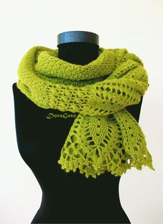 Crochet shawl pattern Stole pattern Women crochet by PatternsDG