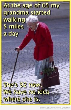 How would I describe the appearance of a sweet old lady?