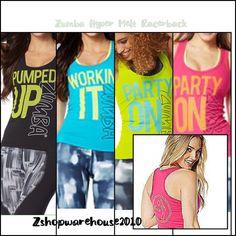 ZUMBA SALE!!!!!!!!!!!!!!!   Zumba Party On Racerback Top - Z1T01098 S M L XL #Zumba #ShirtsTops