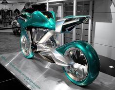 Honda is one of the largest motorcycle manufacturers in the world, and recently showed a concept of future motorcycle, which is shown in the showroom.    As seen in this photo, this is purely just a concept but does not determine whether Honda will only make it as a collection of concept only, but could have become king of motorcycles in the future, let us look forward to what will be done breakthrough HONDA later.